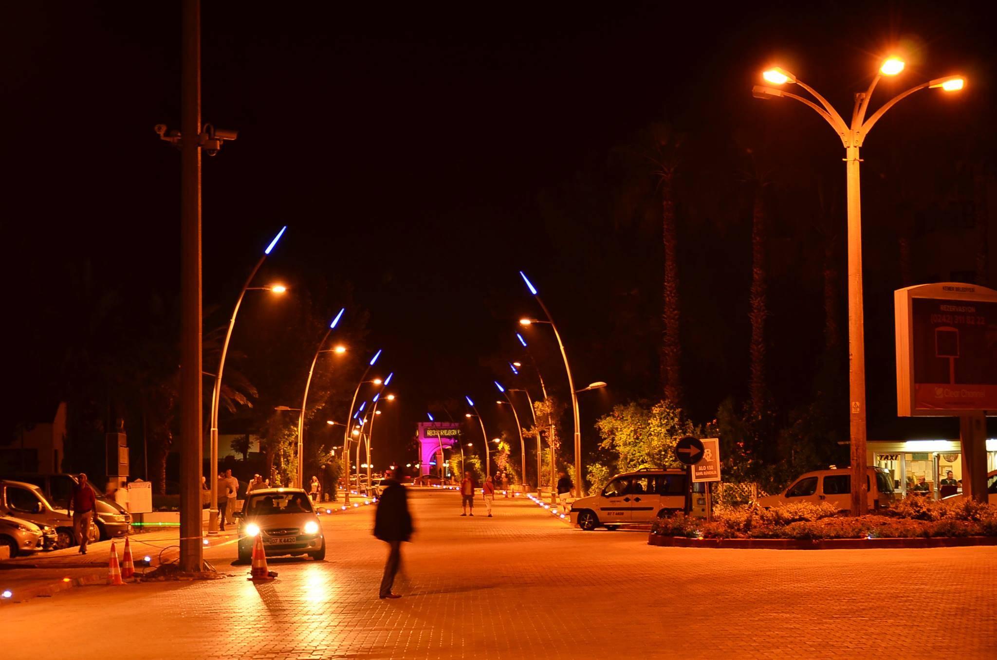 c tipi dekortatif sokak aydınlatma direği
