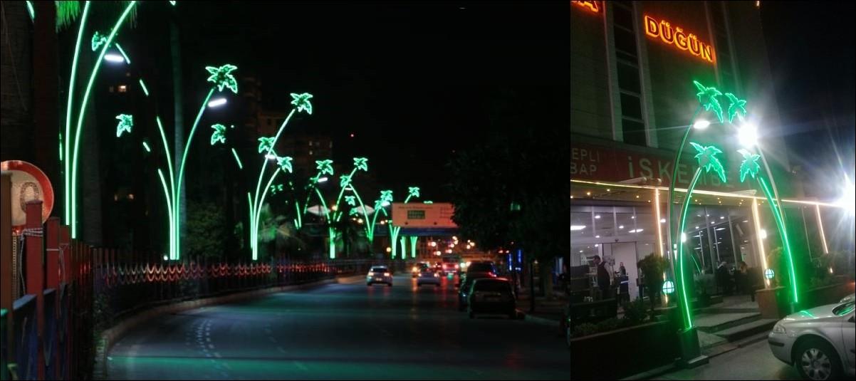palmiye aydınlatma direği