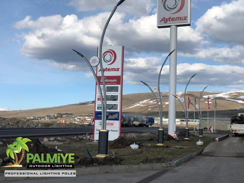 akaryakıt istasyonları aydınlatma direkleri (2)