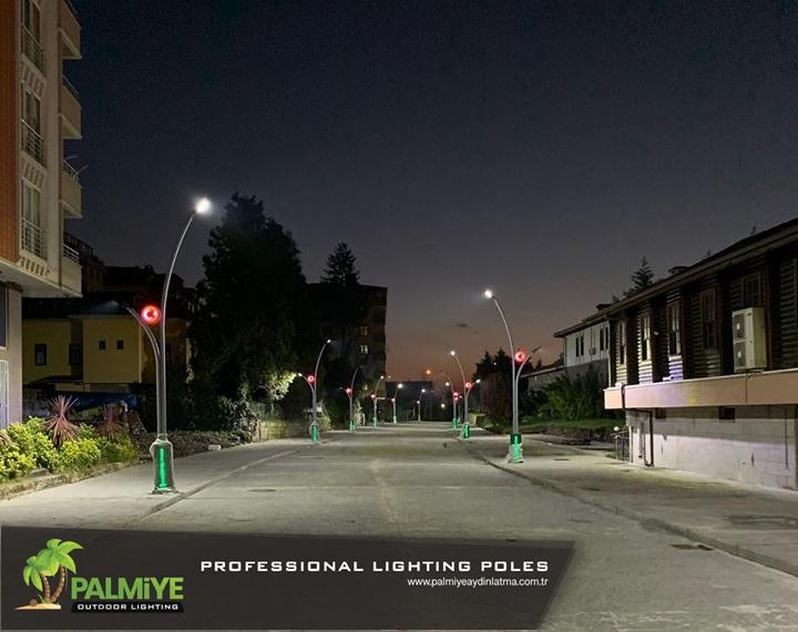 çayeli belediyesi aydınlatma direkleri