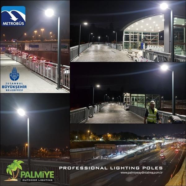 edirnekapı metrobüs aydınlatma direkleri (3)
