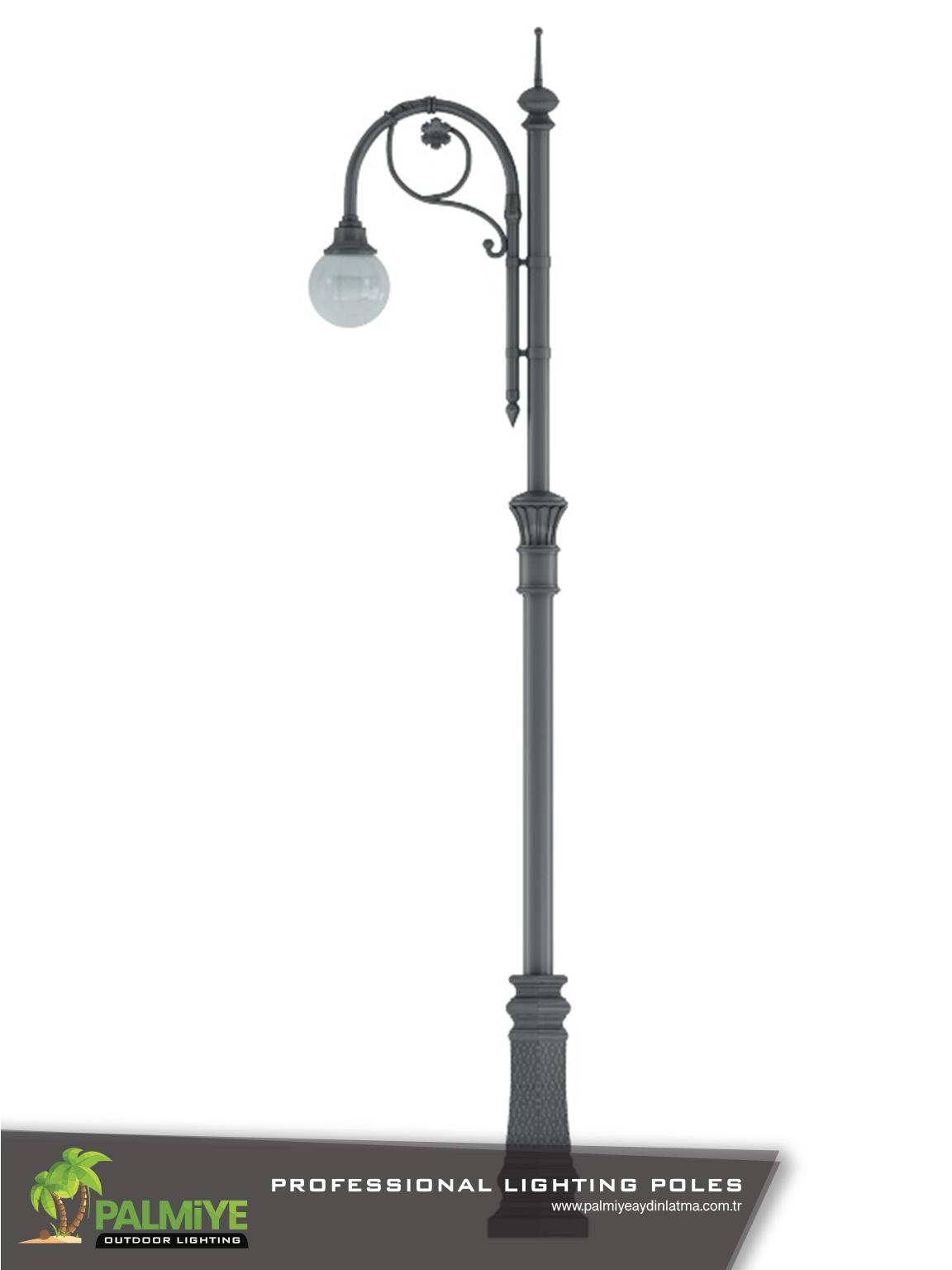 Dekoratif aydınlatma direkleri CİGNO V1